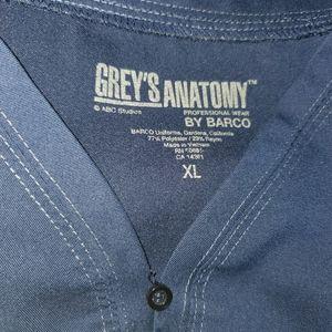 Greys anatomy scrub top navy XL